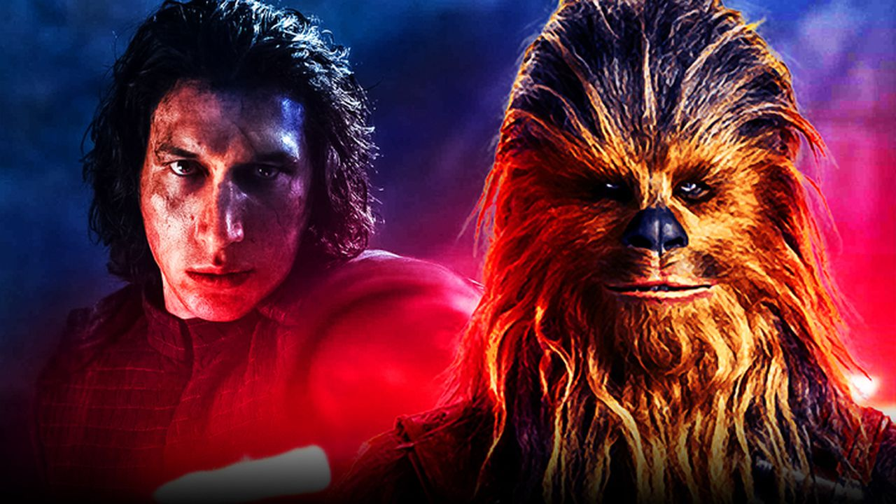 Kylo Ren, Chewbacca, The Rise of Skywalker