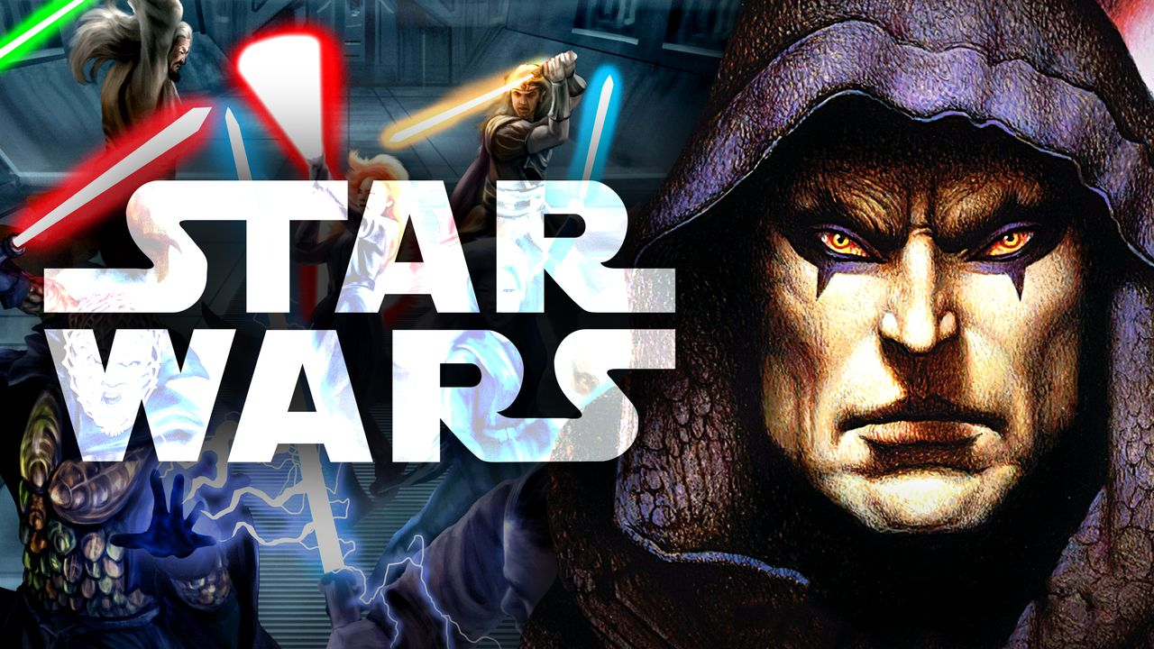 Star Wars logo and Darth Bane