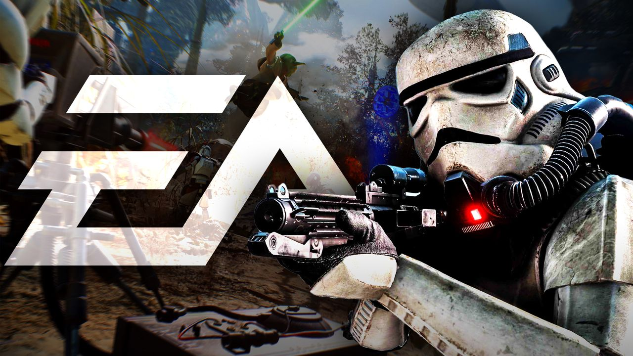 EA logo, Star Wars Clone trooper