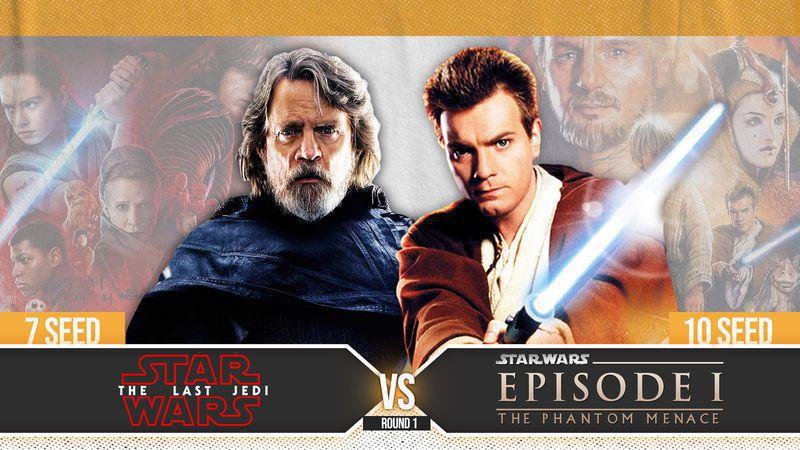 STAR WARS MADNESS ROUND ONE: #7 The Last Jedi vs. #10 The Phantom Menance