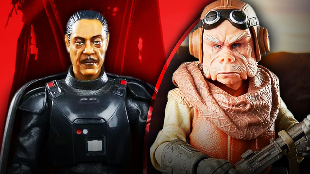Black Series Moff Gideon and Kuiil