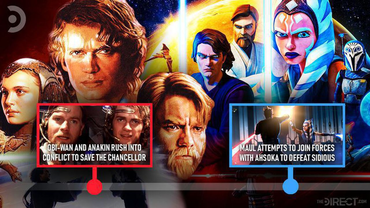revenge of the sith and star wars the clone wars timeline connections