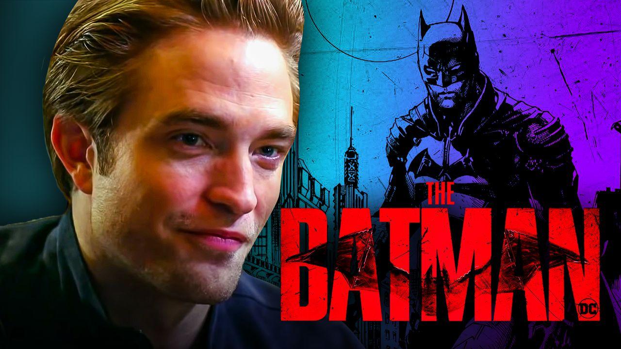 The Batman logo, Robert Pattinson, Batman