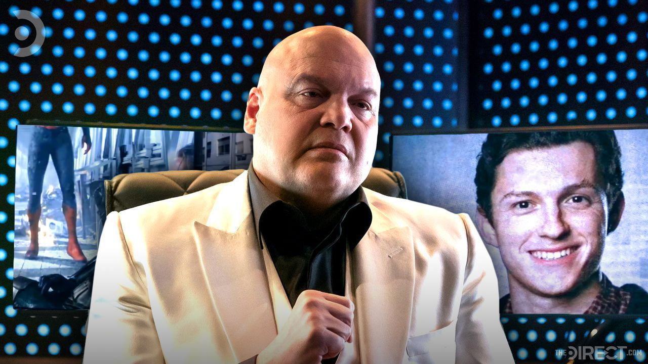 Vincent D'Onofrio as Kingpin, Spider-Man on background screens