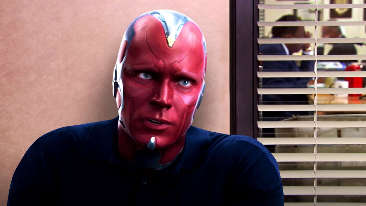 The Vision stare on The Office
