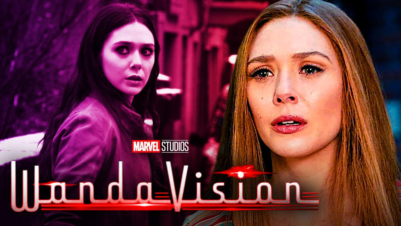 Wanda from Age of Ultron on left and modern Wanda on right