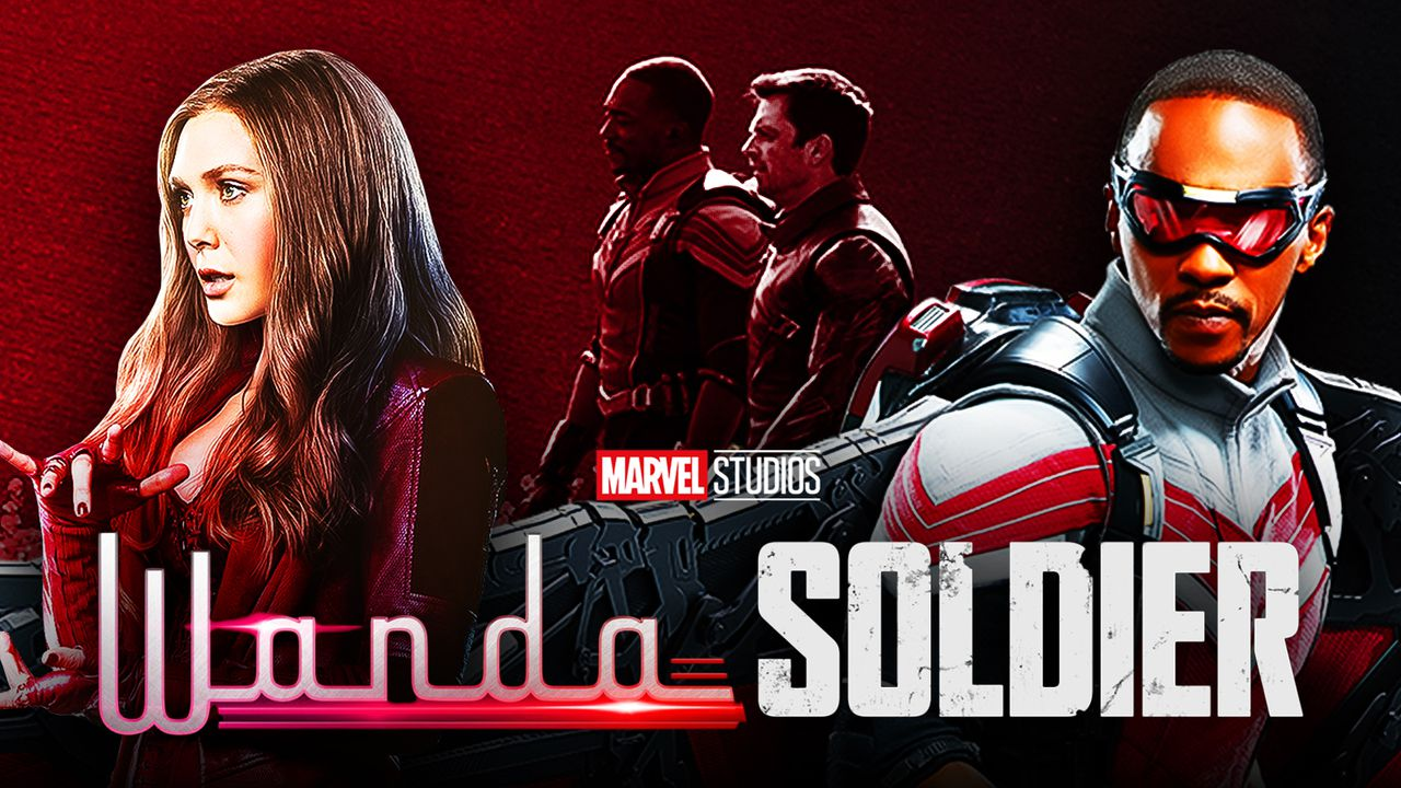 Elizabeth Olsen as Wanda Maximoff, Anthony Mackie as Sam Wilson, Sebastian Stan as Bucky Barnes