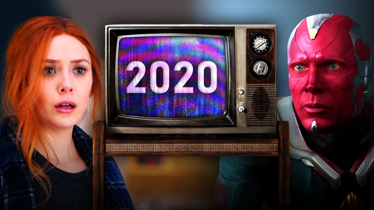 "Wanda, ""2020"" on TV Screen, Vision"