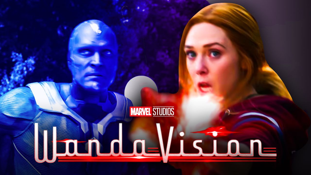 Vision. Scarlet Witch, WandaVision logo
