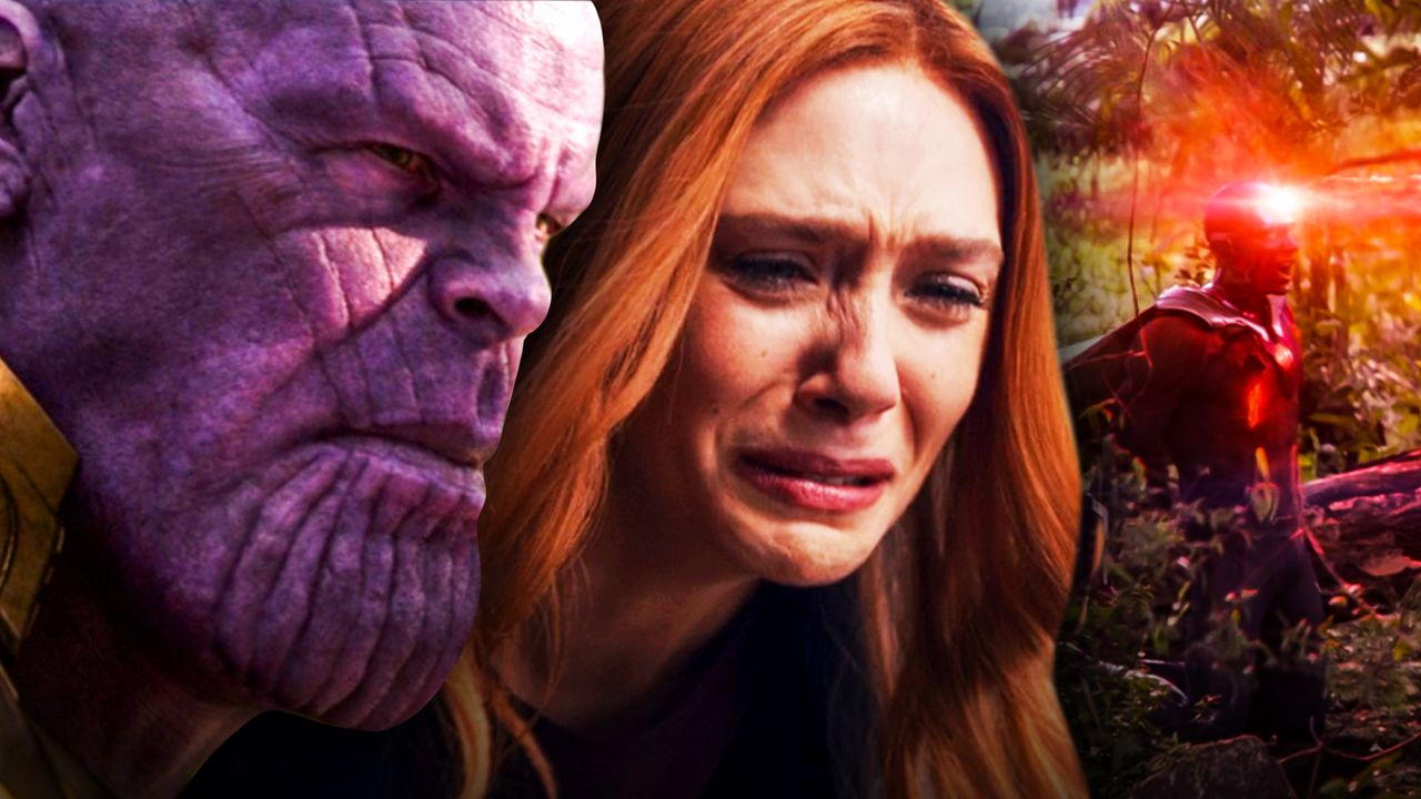 Thanos Scarlet Witch Vision Avengers Infinity War