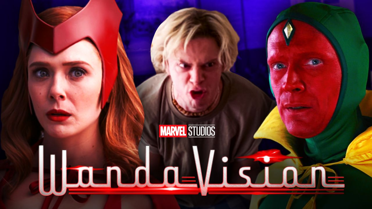 Scarlet Witch, Quicksilver Evan Peters, Vision
