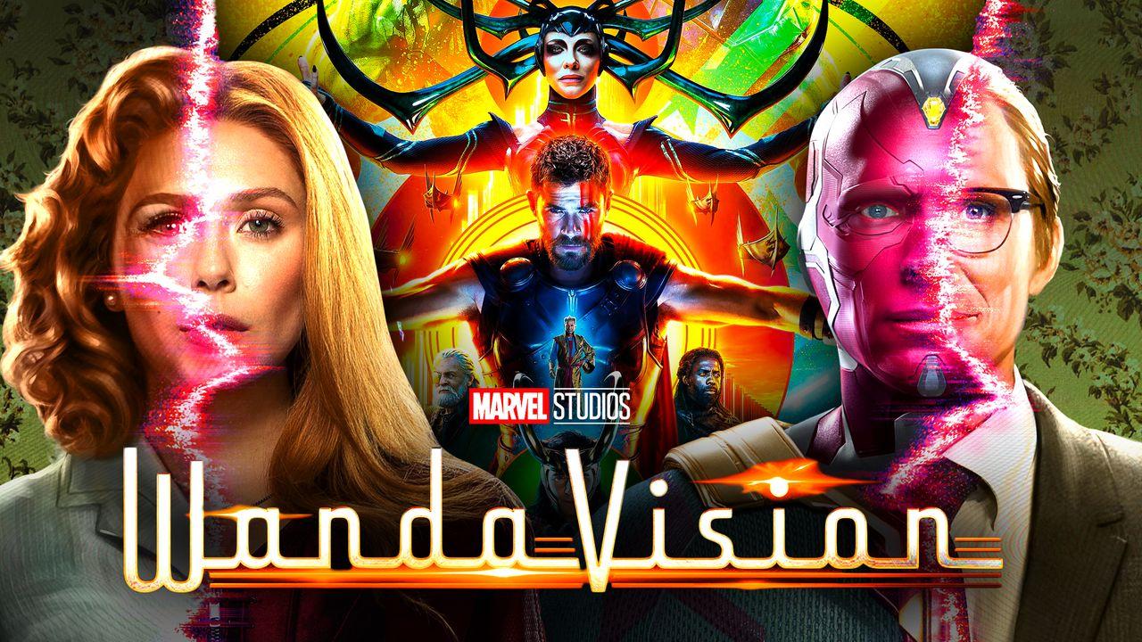 WandaVision logo, Wanda, Vision, Thor: Ragnarok poster