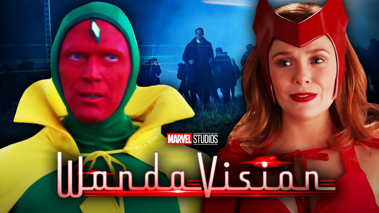 Vision and Scarlet Witch in Halloween Costumes