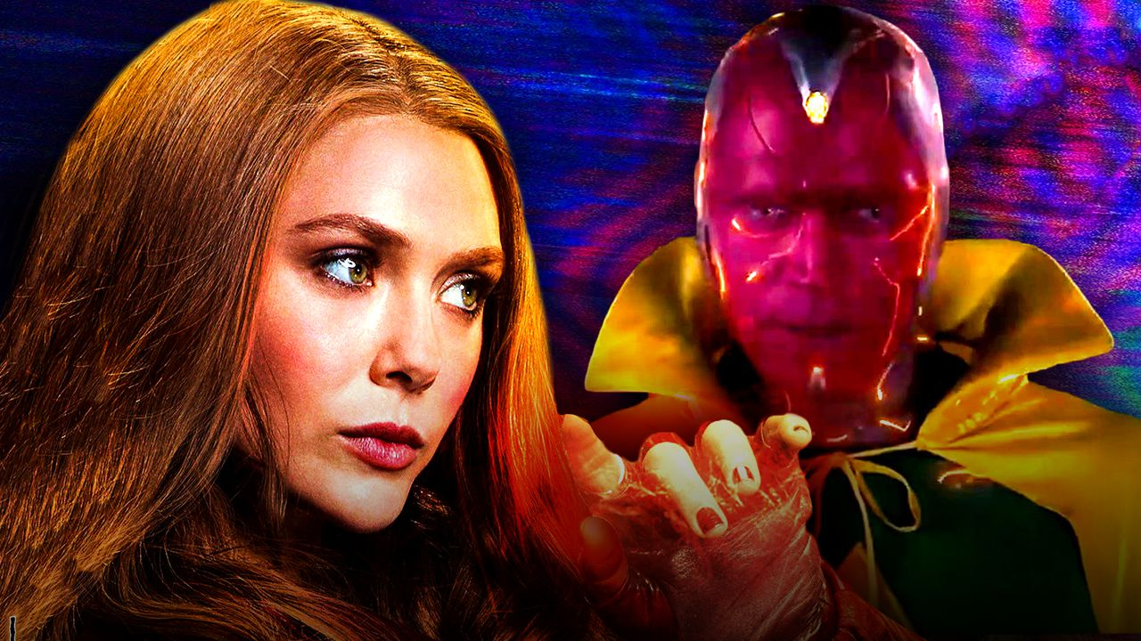 Elizabeth Olsen as Wanda Maximoff, Paul Bettany as Vision