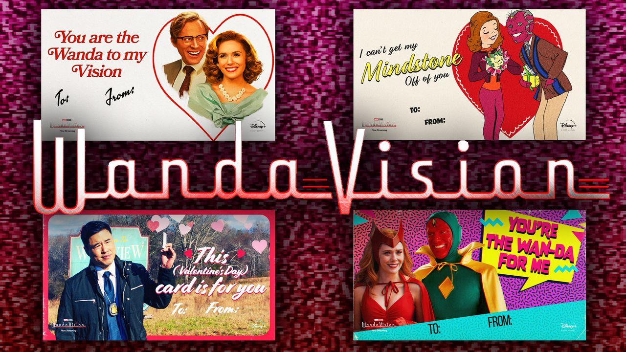 WandaVision, Valentine's Day cards, Wanda Maximoff, Vision
