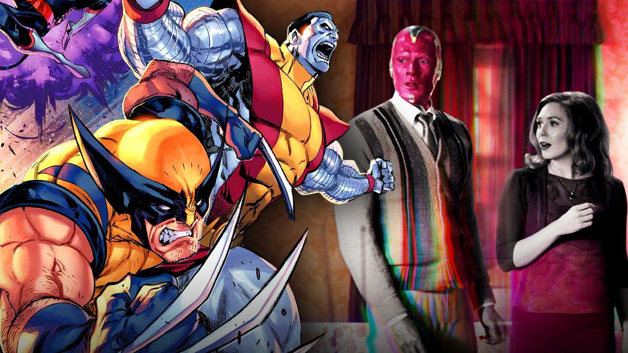 Wolverine, Colossus, Wanda, Vision