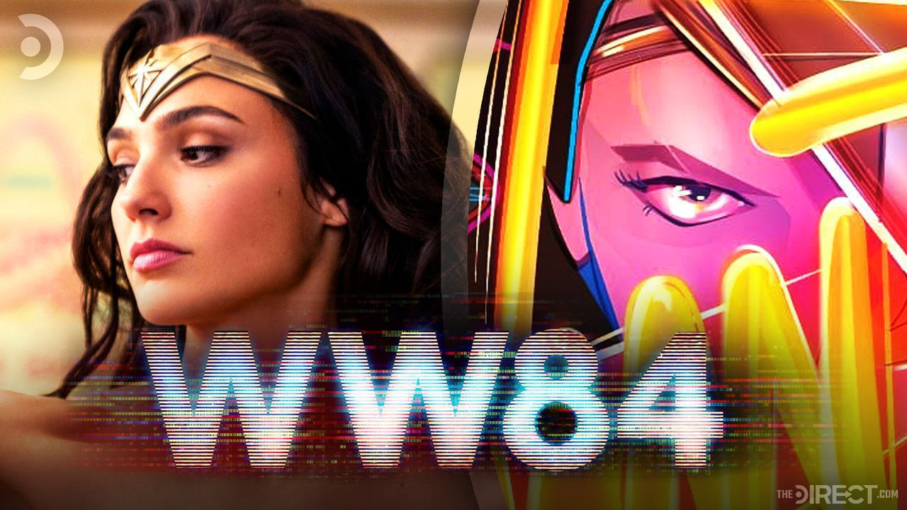 Gal Gadot's Wonder Woman next to newly unveiled official poster.