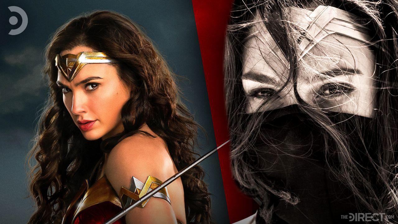 Wonder Woman wearing a mask, Gal Gadot as Wonder Woman