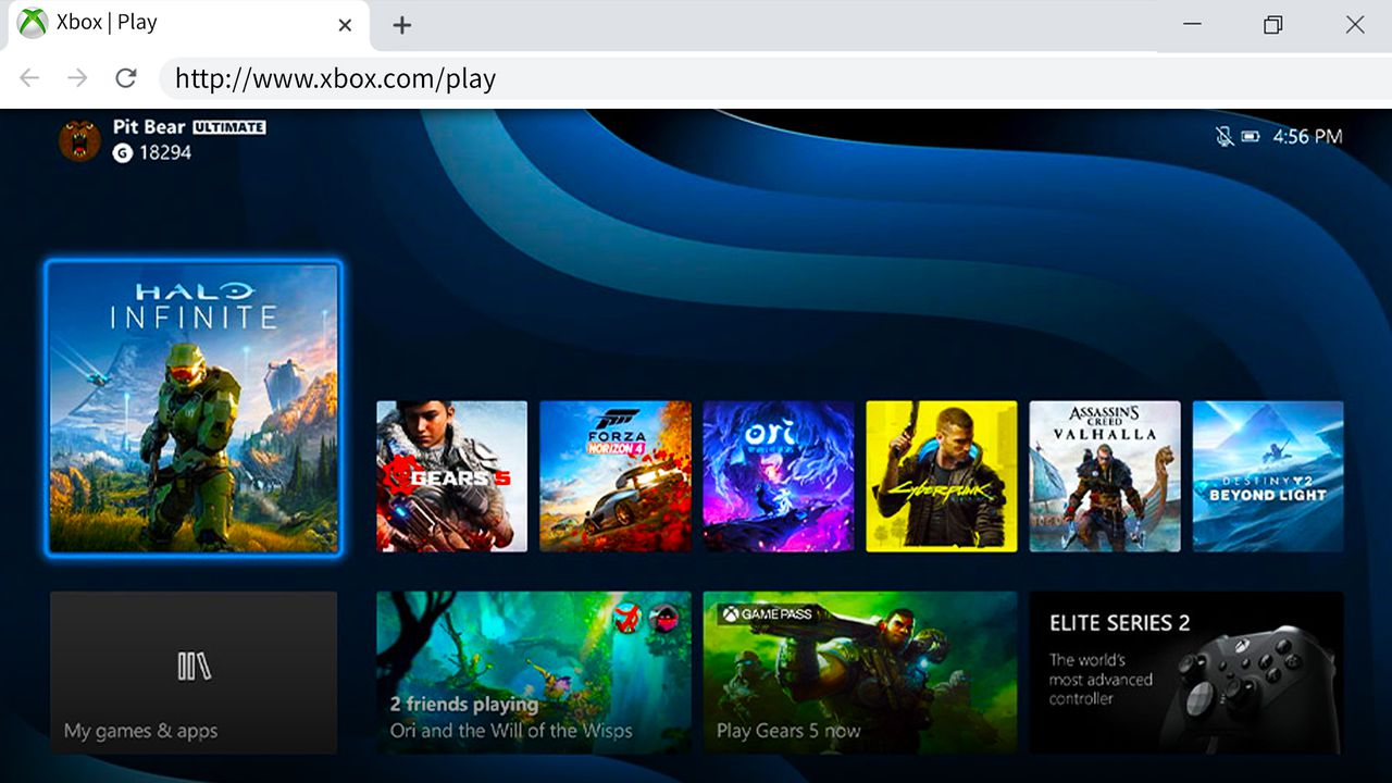 Xbox Play Streaming Browser