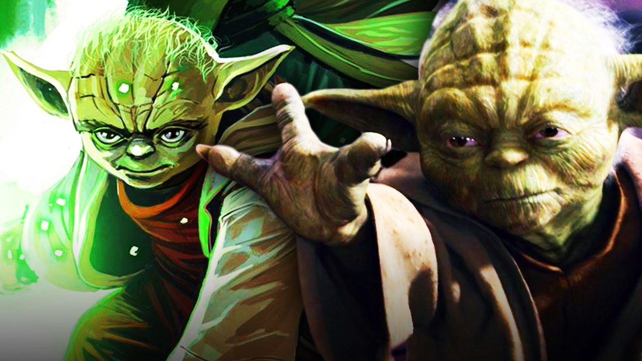 Yoda from High Republic Comic Cover, Yoda from Revenge of the Sith