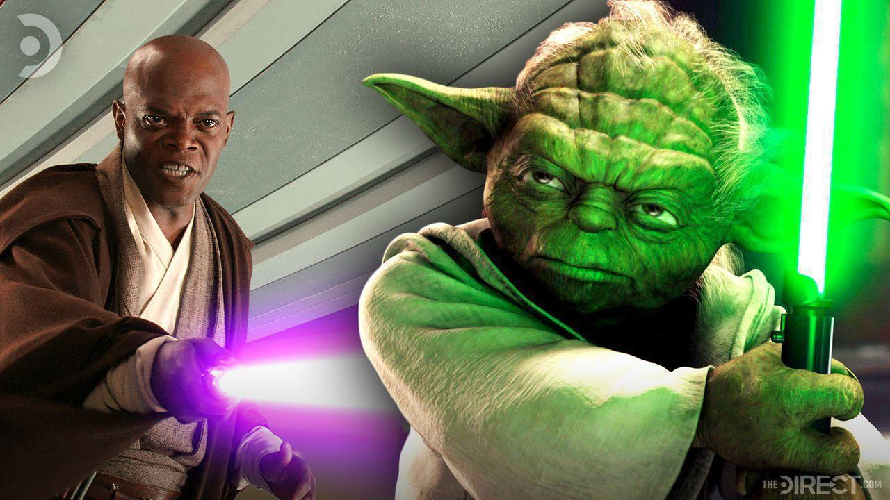 Yoda, Mace Windu, Lightsabers