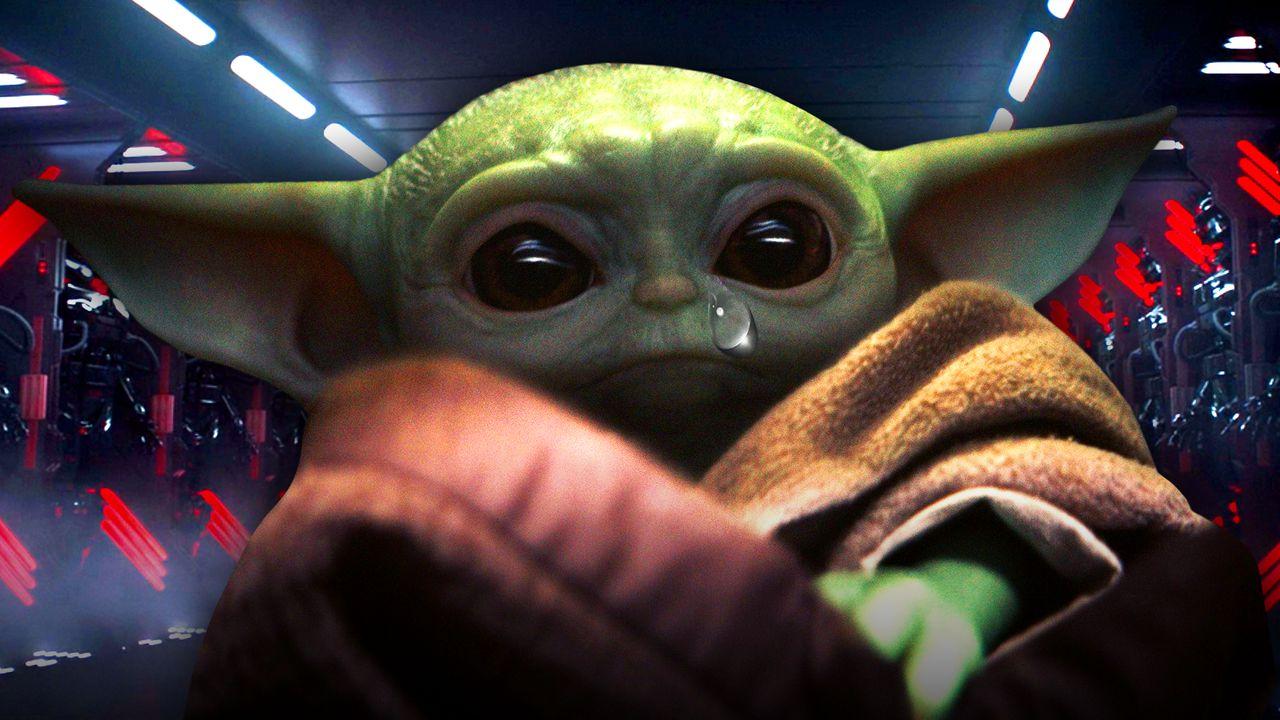 Baby Yoda Tear Drop