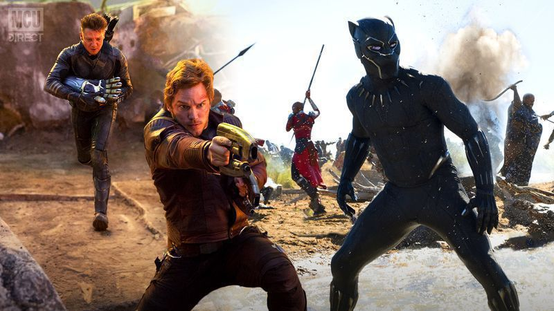 More behind the scenes photos from Infinity War and Endgame.