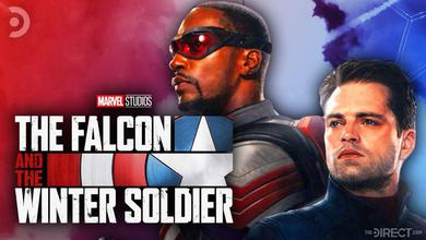 The Falcon and the Winter Soldier Logo, Anthony Mackie, Sebastian Stan