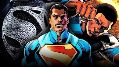 Black Superman, black Man of Steel logo