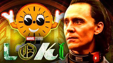 Miss Minutes, Tom Hiddleston as Loki, Loki title logo