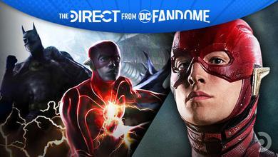 The Flash alongside Michael Keaton as Batman
