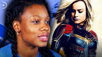 Nia DaCosta, Brie Larson as Captain Marvel