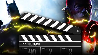 Michael Keaton's Batman, clapper board, Flash from The Flash