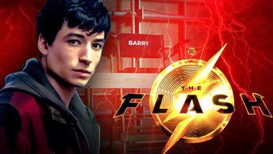 Ezra Miller Barry Allen Flash Movie Logo