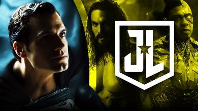 Zack Snyder's Justice League logo, Henry Cavill as Superman, Jason Momoa as Aquaman