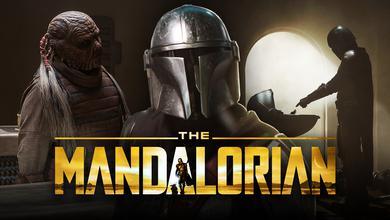 The Mandalorian. The Mandalorian logo