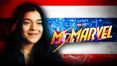 Ms. Marvel logo, Iman Vellani as Kamala Khan