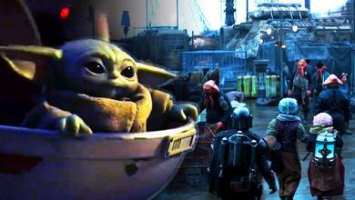 Baby Yoda and The Mandalorian Season 2 Scene
