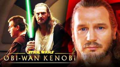 Qui-Gon Jinn, Obi-Wan Kenobi, Liam Neeson, Star Wars: