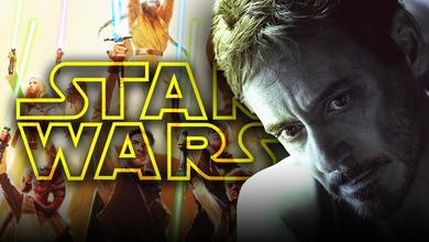 Star Wars Logo, Robert Downey Jr as Tony Stark