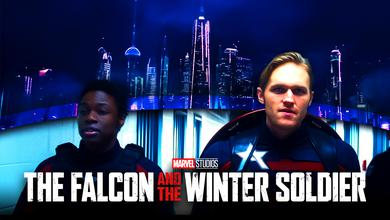 Battlestar and  Captain America Together Falcon and Winter Soldier