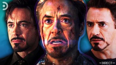 Tony Stark from Iron Man, Avengers: Endgame, and The Avengers