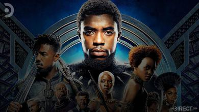 Black Panther poster, Chadwick Boseman highlighted
