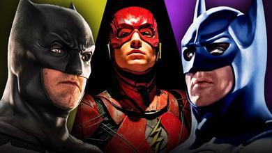 Batman Ben Affleck Michael Keaton Ezra Miller Flash
