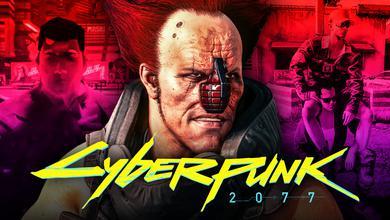 Cyberpunk 2077 logo, characters