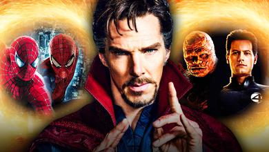 Tobey Maguire and Andrew Garfield's Spider-Men, Doctor Strange, Reed Richards and The Thing