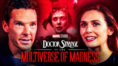 Benedict Cumberbatch Elizabeth Olsen Doctor Strange Multiverse of Madness Logo