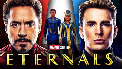 Eternals, Robert Downey Jr. as Iron Man, Chris Evans as Captain America