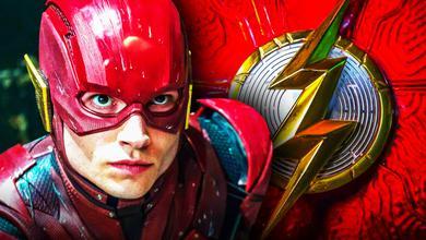 Ezra Miller Flash Costume Symbol