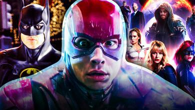 Michael Keaton, The Flash, Arrowverse Poster